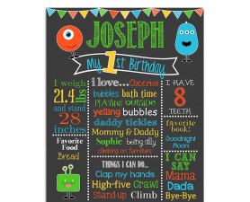 little monster,lil monster,birthday,party,theme,chalkboard,sign,poster,birthday chalkboard