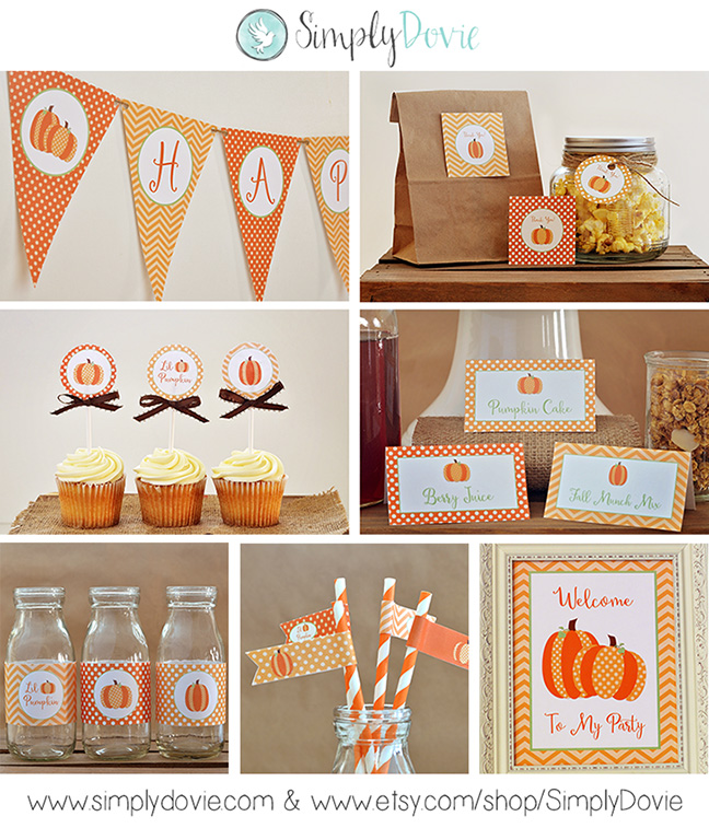 Lil Pumpkin Birthday Printable Party