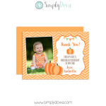 Lil Pumpkin Birthday Thank You card