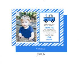 Little Blue Truck Birthday Thank You