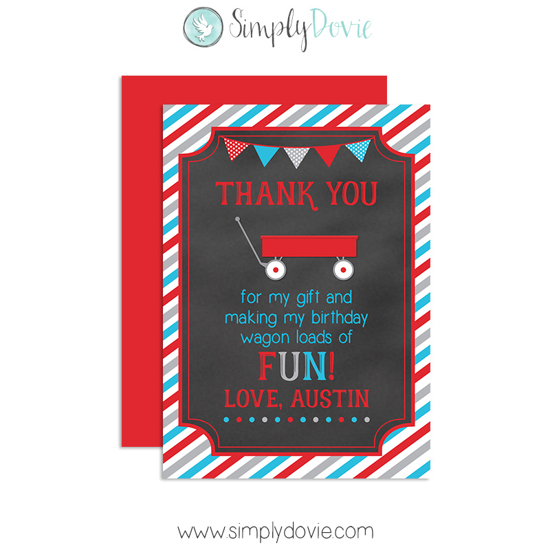 shop red thank you cards.