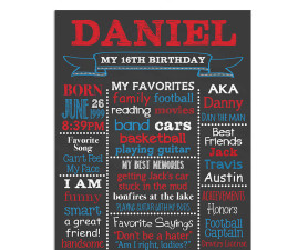 16th birthday chalkboard,sweet 16 birthday,chalkboard sign,chalkboard poster,birthday chalkboard