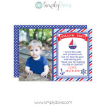 Nautical Thank You Cards,nautical birthday,boys birthday,party,birthday,thank you,cards,theme