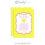 Our Little Sunshine Thank You Cards,thank you,sunshine,you are my sunshine,party,birthday,girls,theme