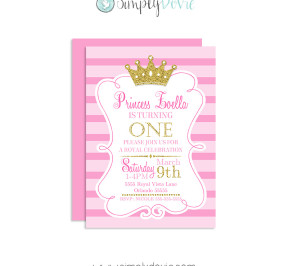 Royal Princess Birthday Invitation,princess birthday,invitations,invites,birthday,party,theme,princess