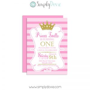 Royal Princess Birthday Invitations, Princess Birthday Invitations, Princess Birthday Invites, Prince Birthday Party, Princess Party Decorations