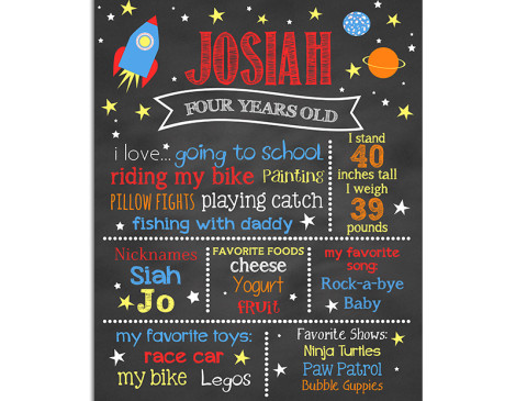 Chalkboard Astronaut Birthday Theme,space birthday party,astronaut birthday,party,theme,boys,rocket themed party,outer space,poster,sign,chalkboard
