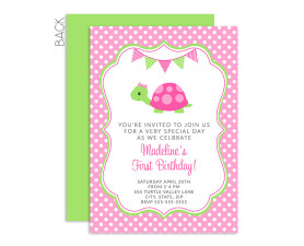 Turtle Invitations