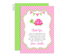 cute,turtle,birthday,thank you,cards,birthday,party,decorations