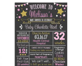 Twinkle Little Star Baby Shower Chalkboard Sign