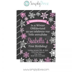 Simply Dovie Winter Onderland II Invitation