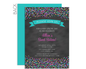 sprinkles,confetti,birthday,invitation,sweet 16,16th,birthday,party,theme
