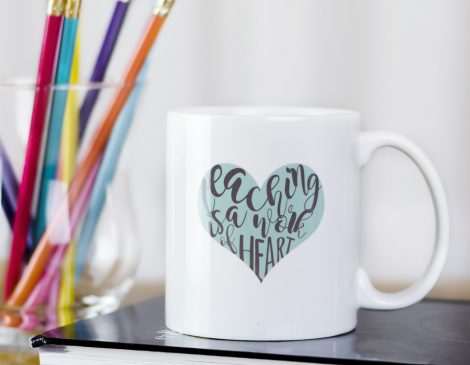 Teaching is a work of art mug