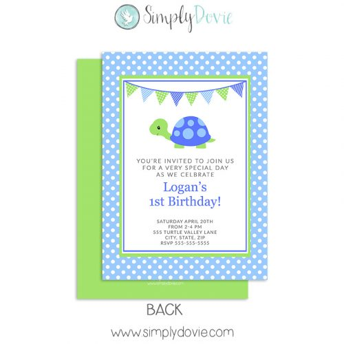 Turtle Boy Invitations