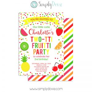 Two-tti Fruitti Party Invitation