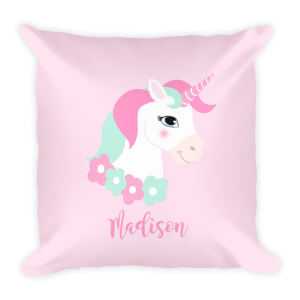 Personalized Unicorn Pillow, Unicorn Pillow, Kids Pillows, Unicorn Bedding, Unicorn Decor