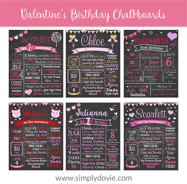 Valentine's Birthday Chalkboards