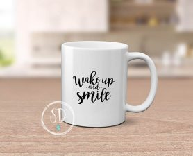 Wake Up and Smile Mug