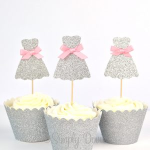 Wedding Dress Cupcake Topper