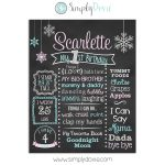 Winter Wonderland Birthday Chalkboard Sign