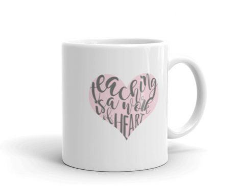 Teaching is a work of art mug Pink