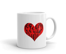 Teaching is a work of art mug Red